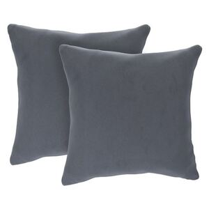 The Lounge Co. - Hermione Pair of Large Fabric Cushions - Grey