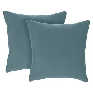 The Lounge Co. - Hermione Pair of Small Fabric Cushions - Blue