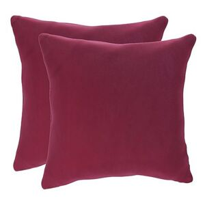 Lorrie Pair of Large Fabric Scatter Cushions - Pink