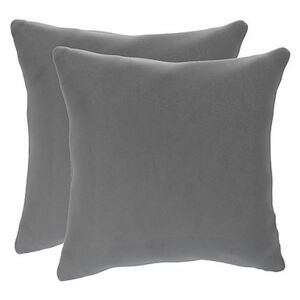 The Lounge Co. - Lorrie Pair of Small Fabric Scatter Cushions - Grey