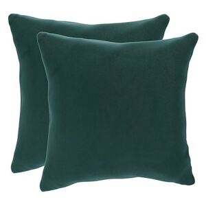 Lorrie Pair of Large Fabric Scatter Cushions - Blue