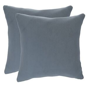 The Lounge Co. - Lorrie Pair of Small Fabric Scatter Cushions - Blue