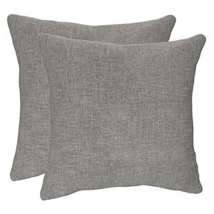Lorrie Pair of Large Fabric Scatter Cushions - Grey
