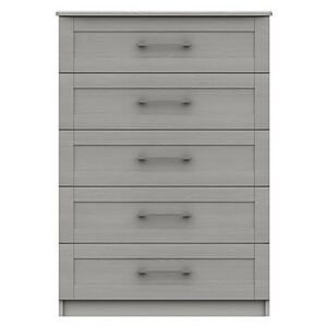 London Bedrooms - Fenchurch 5 Drawer Chest - Grey