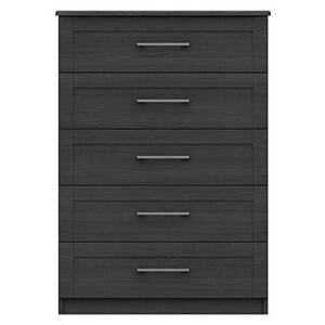 London Bedrooms - Fenchurch 5 Drawer Chest - Black