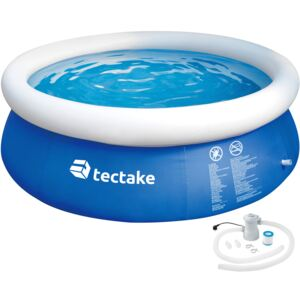 Tectake 402898 inflatable pool with filter ø 300 x 76 cm - blue