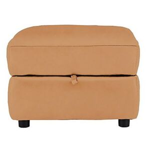 Relax Station Revive Leather Storage Footstool- World of Leather