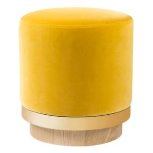 Pouf - / Velvet by RED Edition Yellow