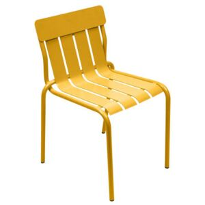 Stripe Stacking chair - By Matali Crasset by Fermob Yellow/Orange