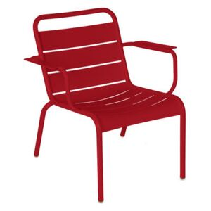 Luxembourg Lounge armchair - / Low seat by Fermob Red