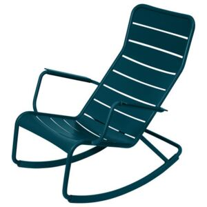Luxembourg Rocking chair - / Aluminium by Fermob Blue