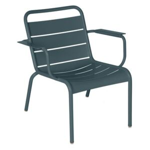 Luxembourg Lounge armchair - / Low seat by Fermob Grey