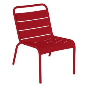 Luxembourg Lounge chair - / Low seat by Fermob Red