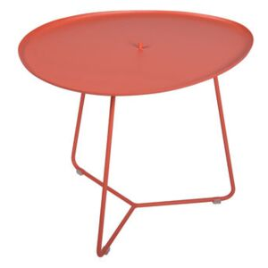 Cocotte Coffee table - / L 55 x H 43.5 cm - Detachable table top by Fermob Red/Orange