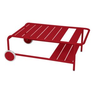 Luxembourg Coffee table - / With wheels 105 x 65 cm by Fermob Red