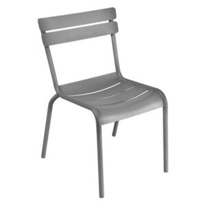 Luxembourg Stacking chair - Metal by Fermob Grey/Silver/Metal