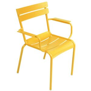 Luxembourg Stackable armchair by Fermob Yellow