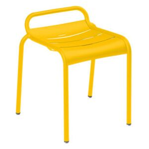 Luxembourg Stackable stool - / Aluminium by Fermob Yellow