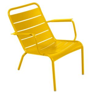 Luxembourg Low armchair by Fermob Yellow