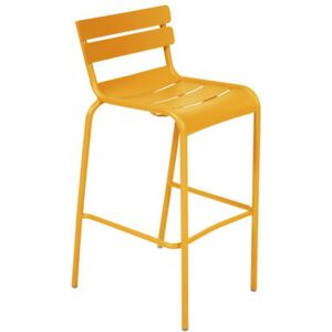 Luxembourg Bar chair - H 80 cm - Metal by Fermob Yellow
