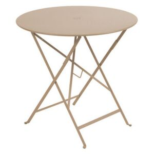 Bistro Foldable table - Ø 77cm - Foldable - With umbrella hole by Fermob Beige