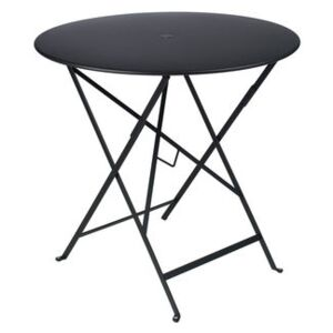 Bistro Foldable table - Ø 77cm - Foldable - With umbrella hole by Fermob Black