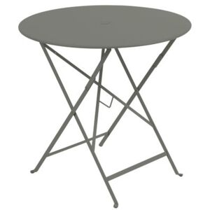 Bistro Foldable table - Ø 77cm - Foldable - With umbrella hole by Fermob Green/Grey