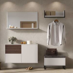 Germania Coat Rack Cabinet GW-Madeo Cashmere