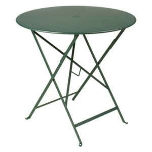 Bistro Foldable table - Ø 77cm - Foldable - With umbrella hole by Fermob Green