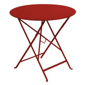 Bistro Foldable table - Ø 77cm - Foldable - With umbrella hole by Fermob Red