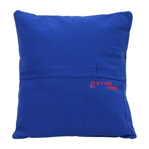 Bleu de travail Cushion cover - / Recycled - 40 x 40 cm - Embroidered - Numbered edition by Aequo Design Blue