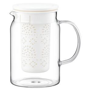 Teapot Subtele with infuser and lid 1,4 l white AMBITION