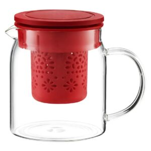 Teapot Subtele with infuser and lid 800 ml red AMBITION