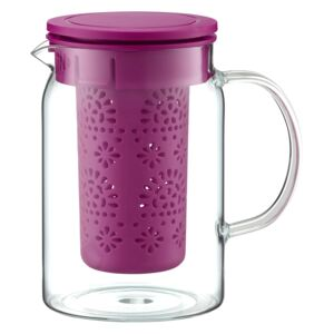 Heat resistant jug with infuser Glamour 1000 ml purple AMBITION
