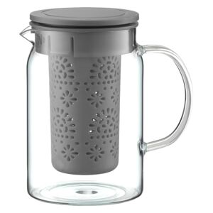 Heat resistant jug with infuser Glamour gray 1000 ml AMBITION