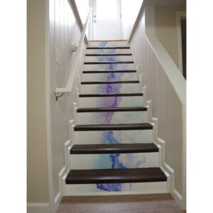 Stair decals Turquoise Abstractions