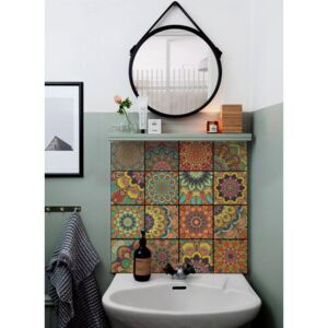 Tile decals Colorful Talavera Pattern