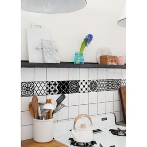 Tile decals Black and White