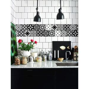 Tile decals Black and White Morocco