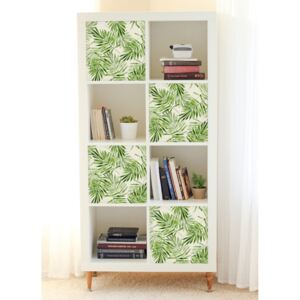 Ikea Kallax Decals Exotic Green Palm Leaves