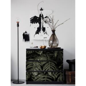 Ikea Malm Decals Monstera Leaves