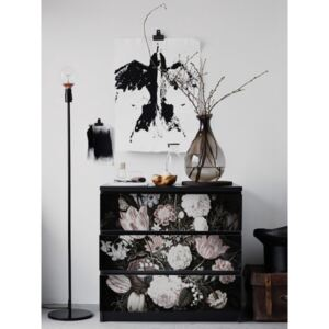 Ikea Malm Decals Vintage Floral Art