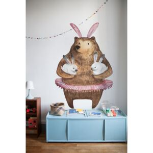 Wall decals Bear and Bunnies