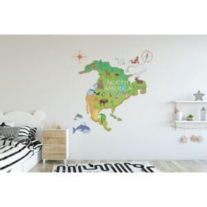 Wall decals North America Map