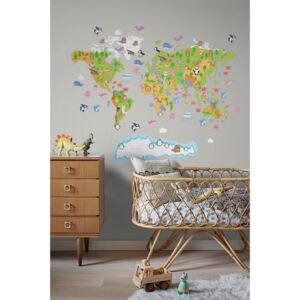 Wall decals World Map for Children