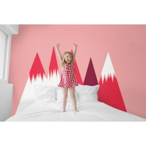 Wall decals Snowy Pink Mountains