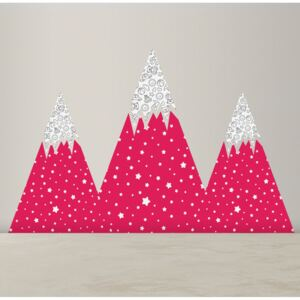 Wall decals Cute Pink Mountains