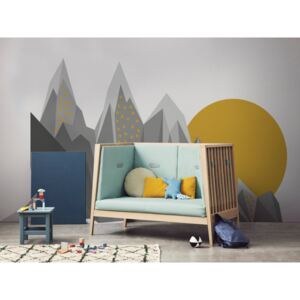 Wall decals Sunset in the Mountains