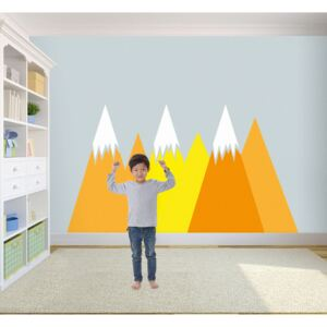 Wall decals Bright Yellow Mountains
