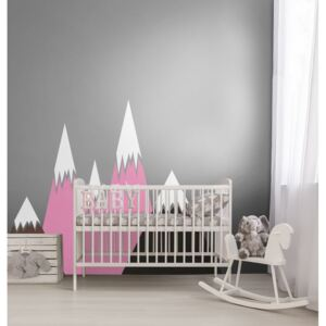 Wall decals Pink Mountains